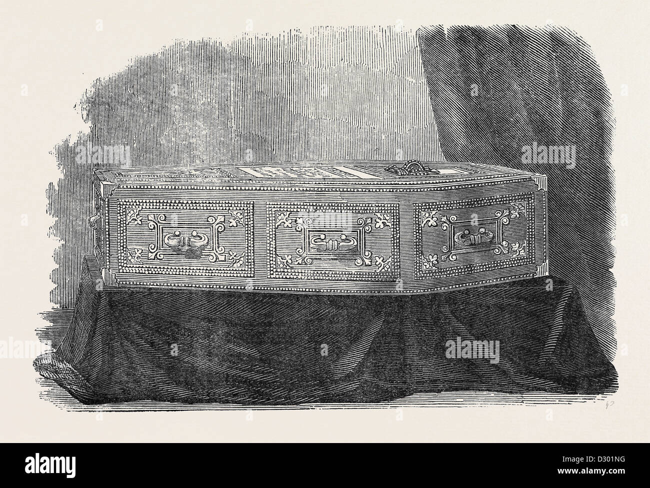 COFFIN OF HIS LATE ROYAL HIGHNESS THE PRINCE CONSORT PRINCE ALBERT - Stock Image