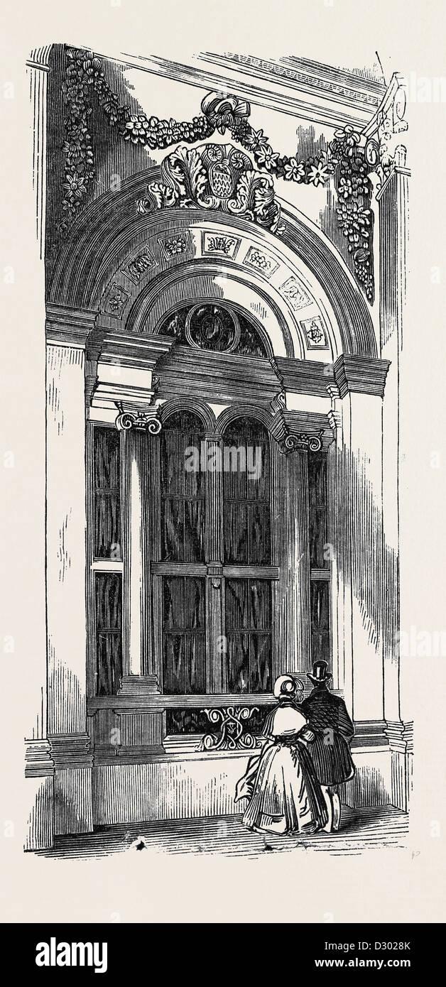 VENETIAN WINDOW, WEST FRONT - Stock Image