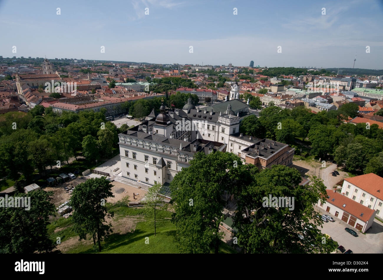 Panorama view of Vilnius in Lithuania Baltic States Stock Photo