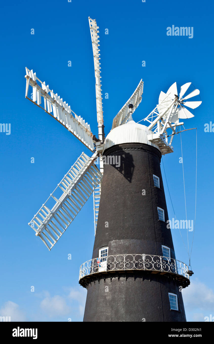 Sibsey Trader mill windmill Sibsey village East Lindsay Lincolnshire England UK GB EU Europe - Stock Image