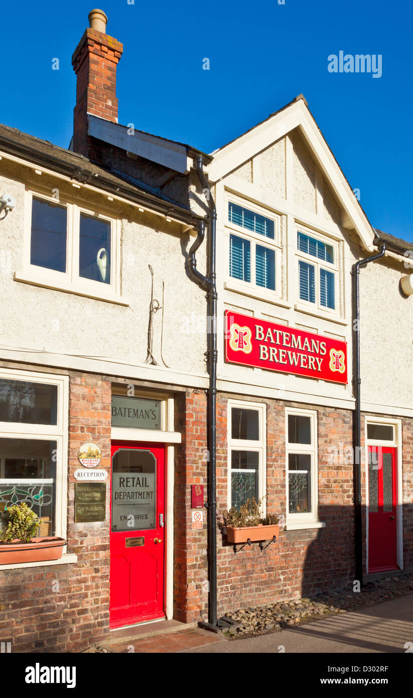 Batemans Brewery  is one of the country's oldest family breweries Wainfleet All Saints Lincolnshire England - Stock Image