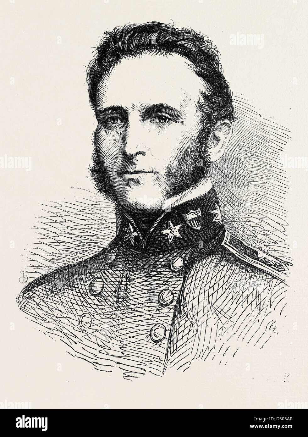 MAJOR-GENERAL STONEWALL JACKSON OF THE CONFEDERATE ARMY 1862 - Stock Image