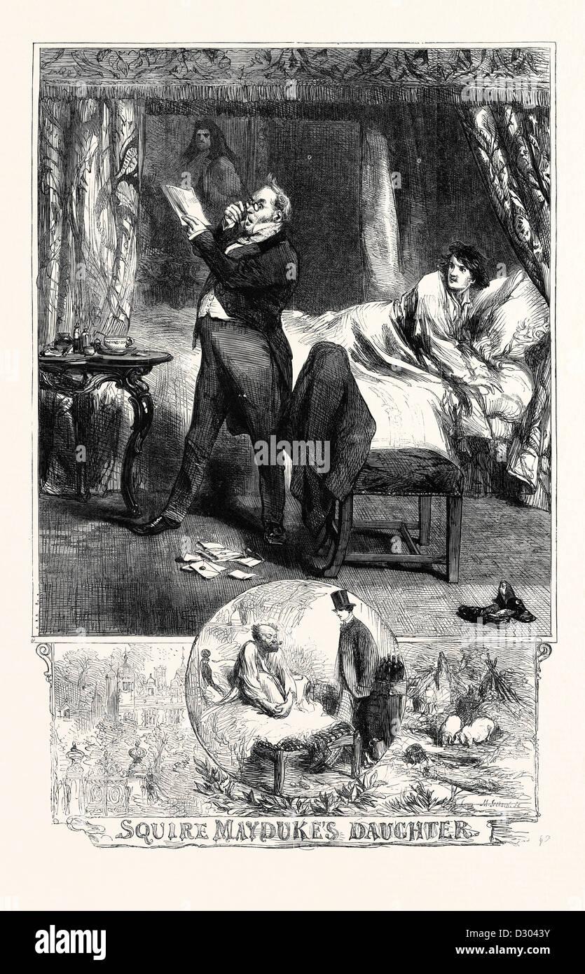SQUIRE MAYDUKE'S DAUGHTER - Stock Image