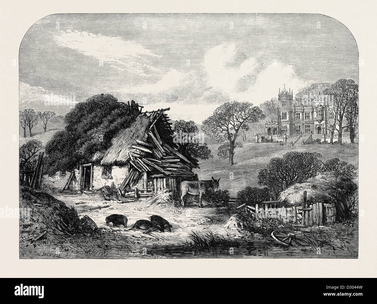 SQUIRE MAYDUKE'S DAUGHTER: WILL TEAGUE'S HOUSE - Stock Image