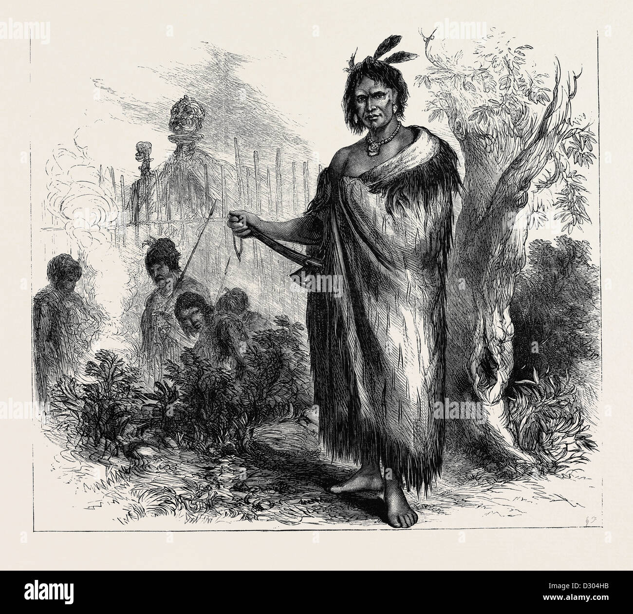 TE KOOTI, the Maori chief and leader of insurgents in New Zealand, 1870 Stock Photo