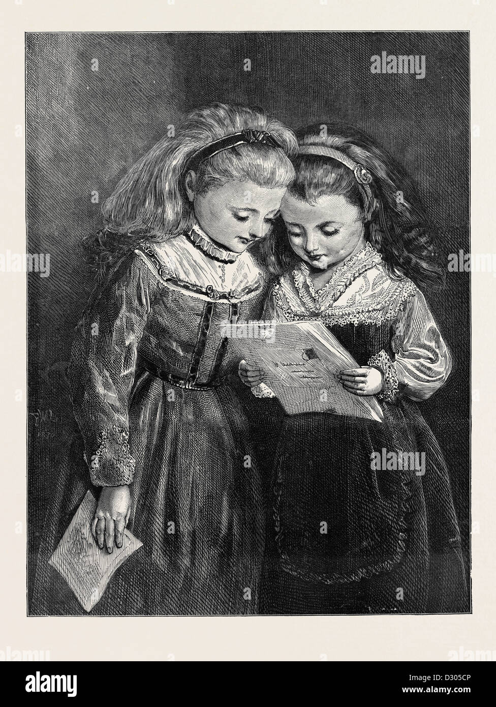 THE FIRST VALENTINE, 1870 - Stock Image