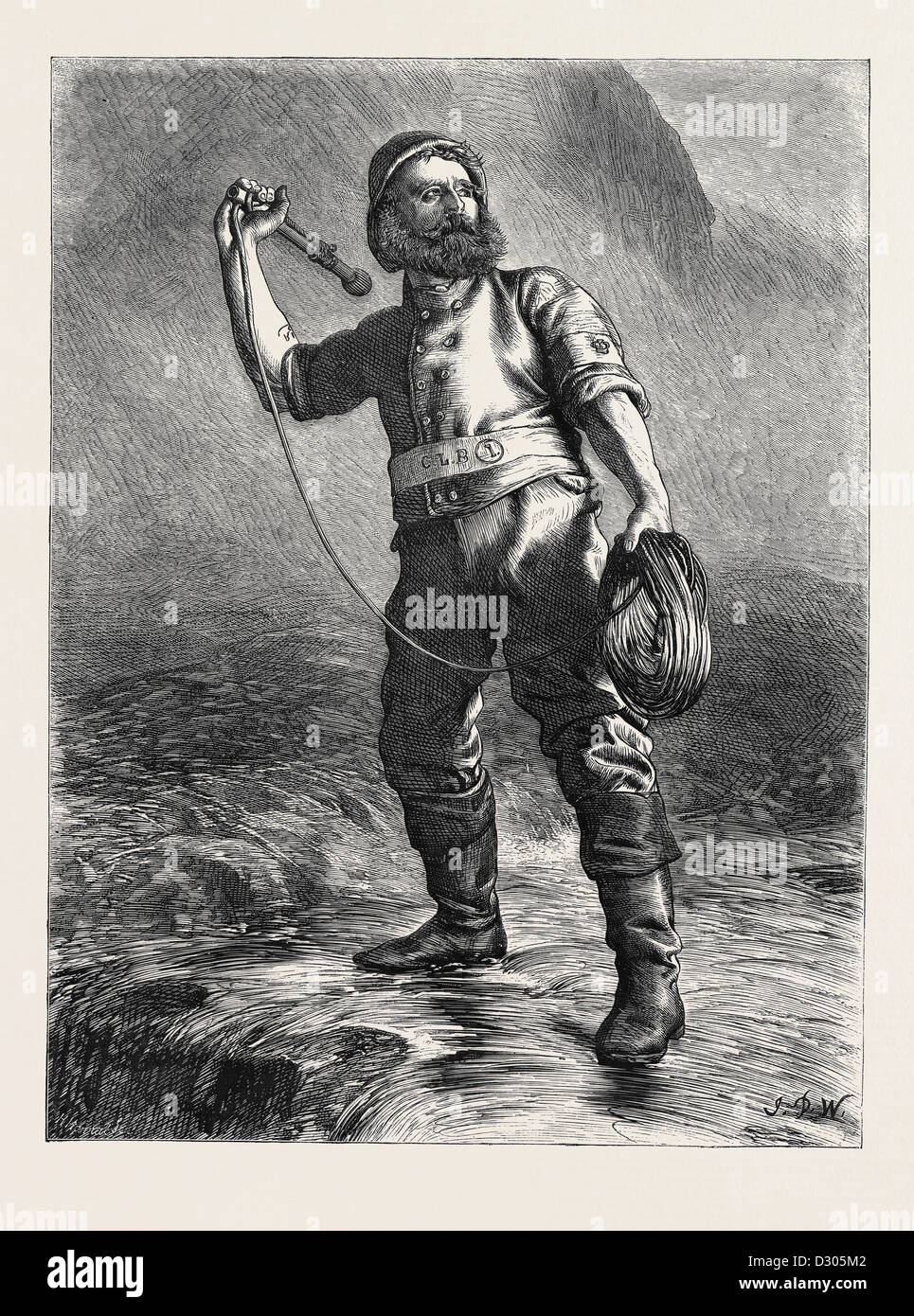 THE LIFE BRIGADE MAN, 1870 - Stock Image
