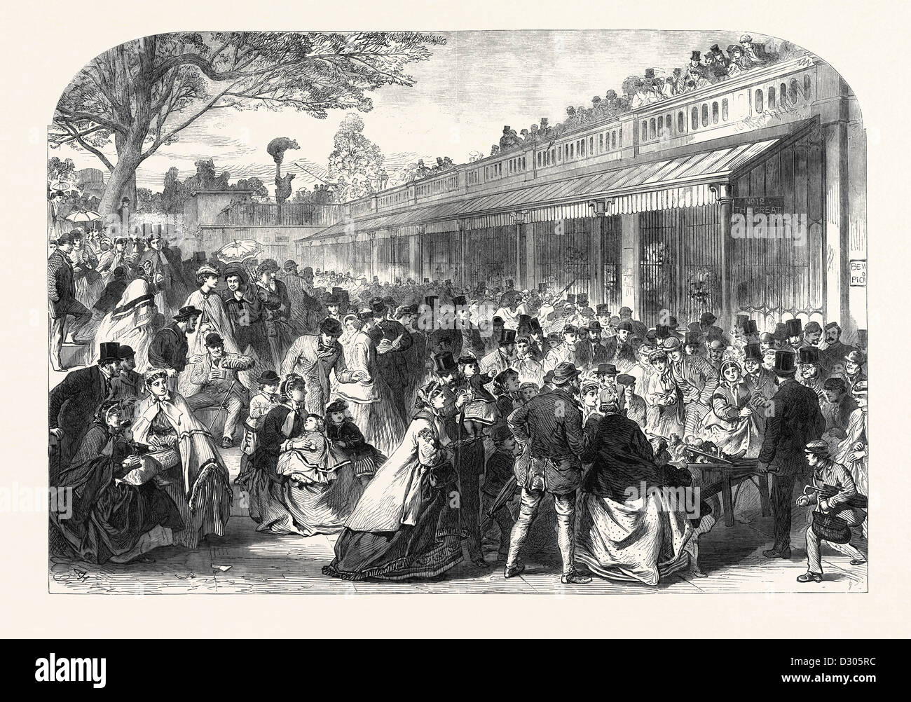 THE GARDENS OF THE ZOOLOGICAL SOCIETY REGENT'S PARK LONDON UK ON WHIT MONDAY 1866 Stock Photo