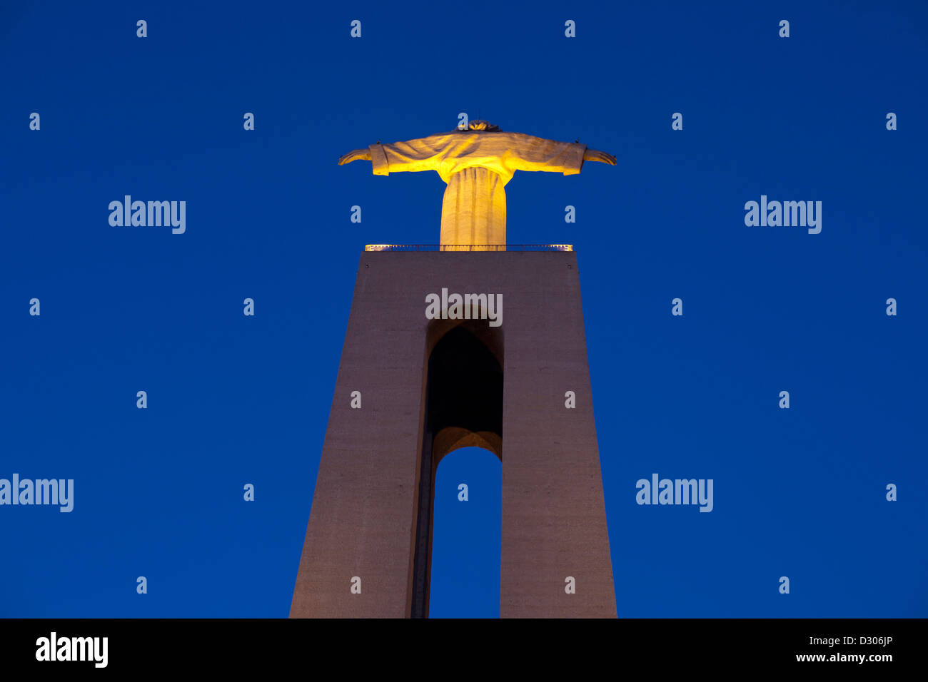 Rear view of Cristo Rei (Christ King) statue, Lisbon, Portugal - Stock Image