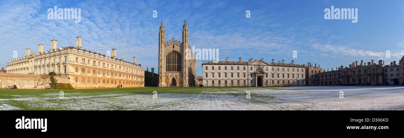 Kings College Panorama, Cambridge University, England, UK - Stock Image