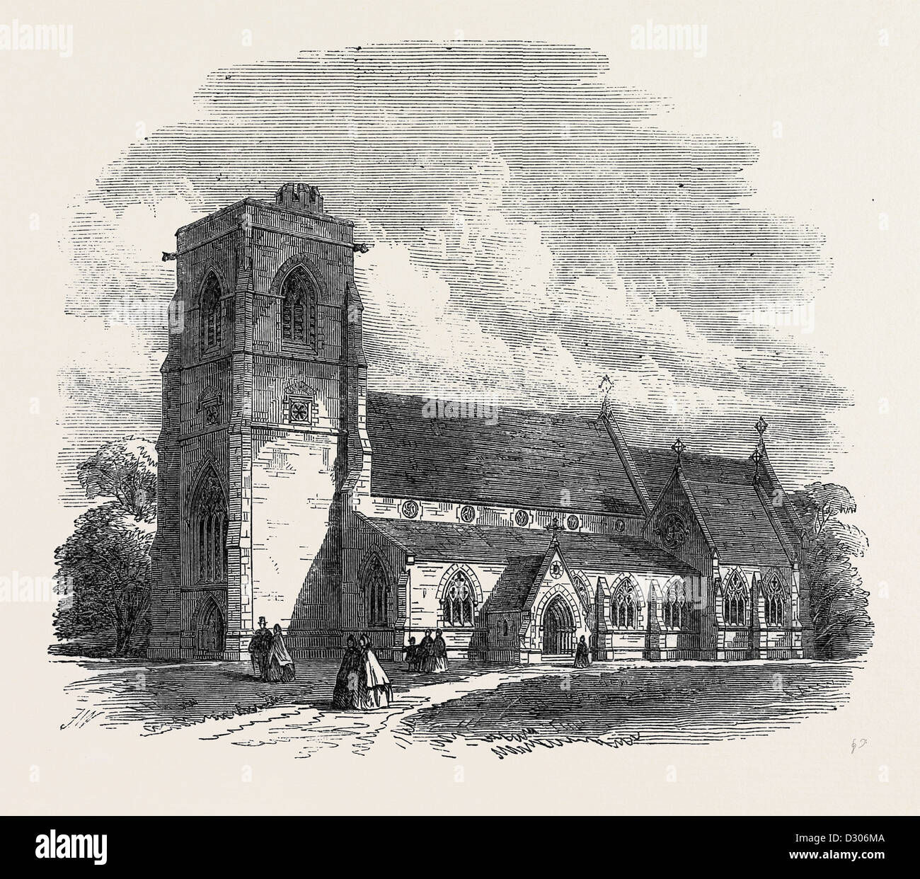 BENHILTON CHURCH SUTTON SURREY UK 1866 - Stock Image
