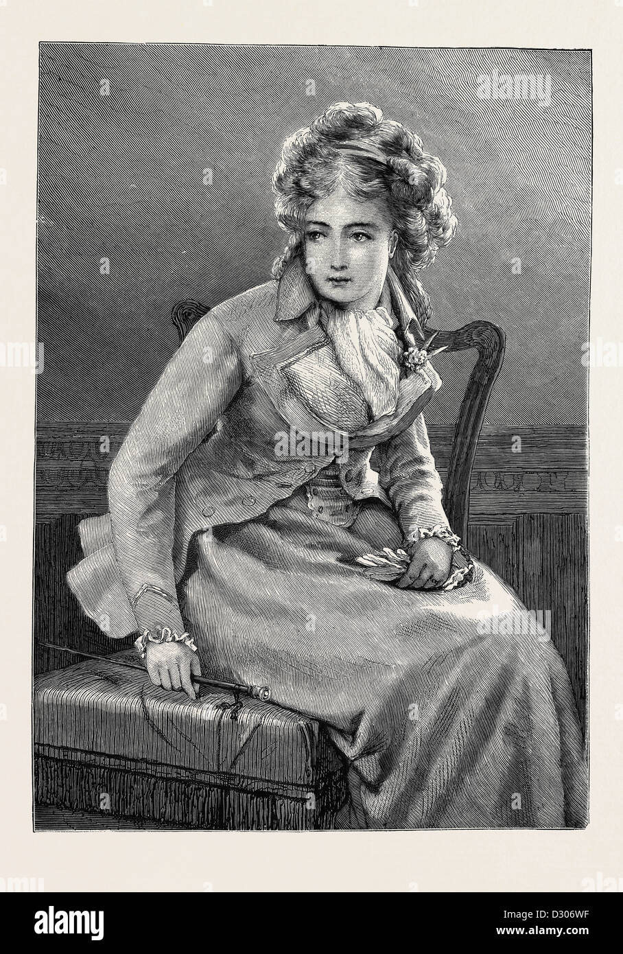 GRANDMAMMA, FROM A DRAWING BY G.D. LESLIE, A.R.A., 1870 - Stock Image