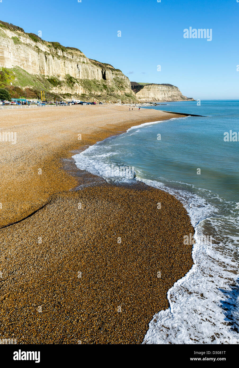 Beach at Hastings in East Sussex, England, UK - Stock Image