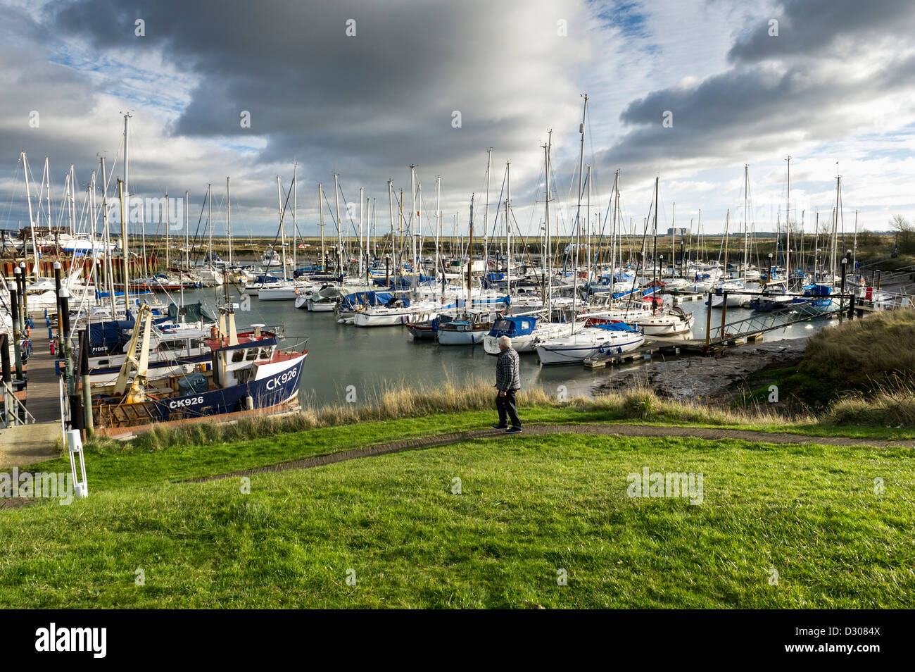 Tollesbury Marina, Maldon, Essex, UK - Stock Image