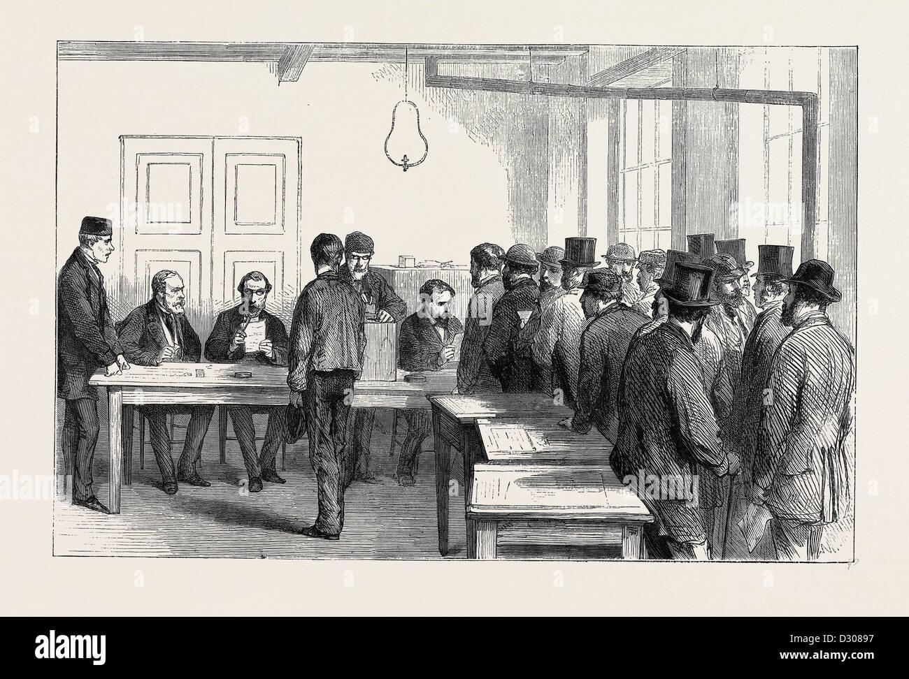 THE PLEBISCITUM. CIVILIANS VOTING, 1870 - Stock Image