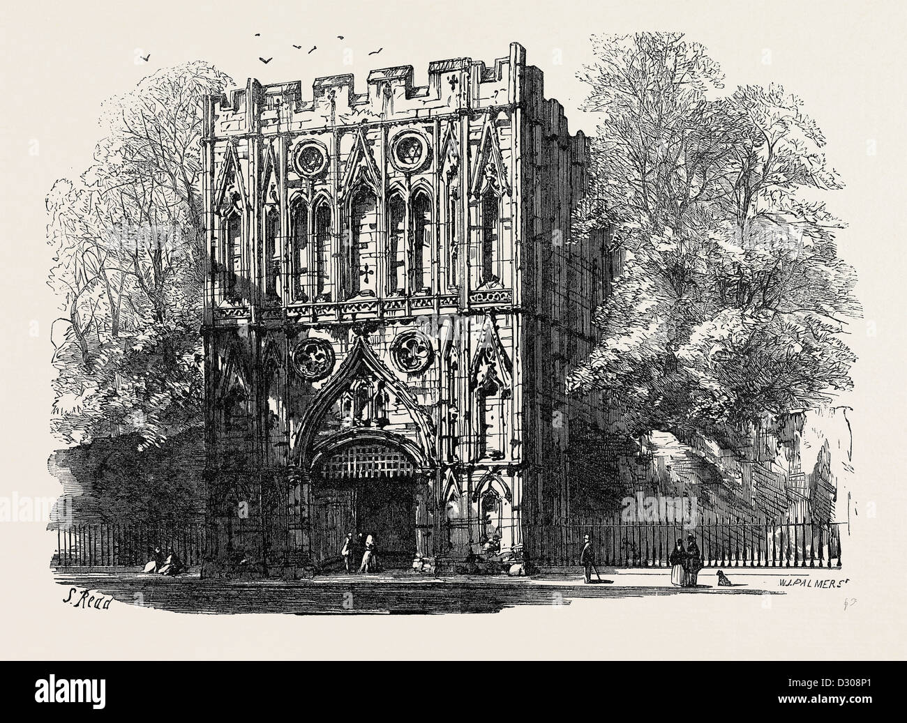 BURY ST. EDMUNDS: THE ABBEY GATE 1867 - Stock Image