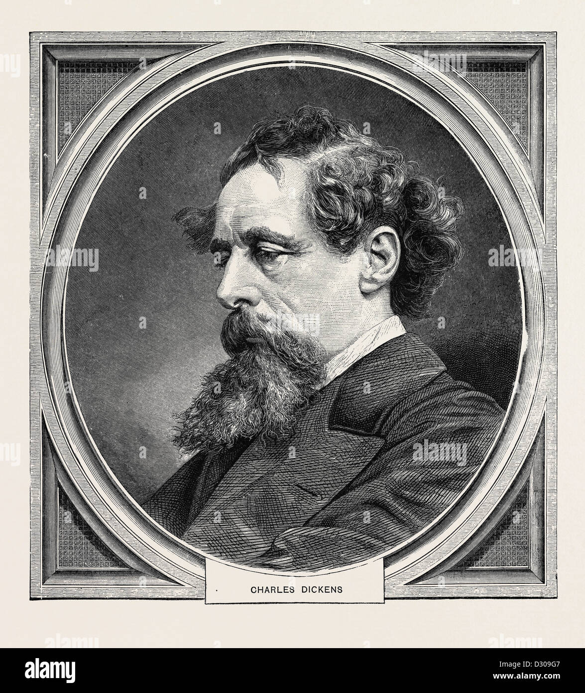 CHARLES DICKENS, BORN AT PORTSMOUTH, 7 FEBRUARY, 1812; DIED AT GAD'S HILL, KENT, 9 JUNE, 1870 Stock Photo