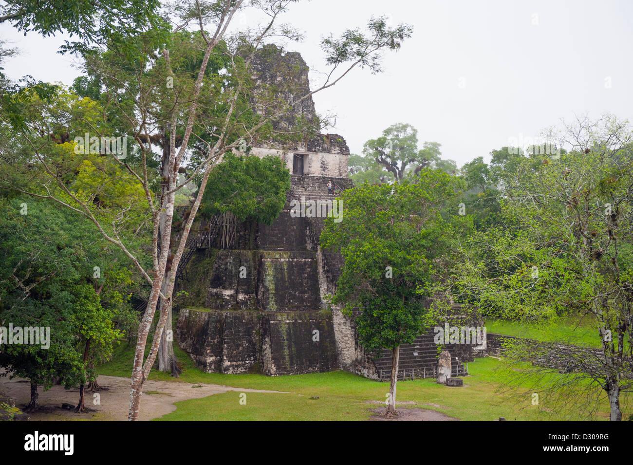 Tikal Maya ruins, Unesco World Heritage site, Guatemala, Central America Stock Photo