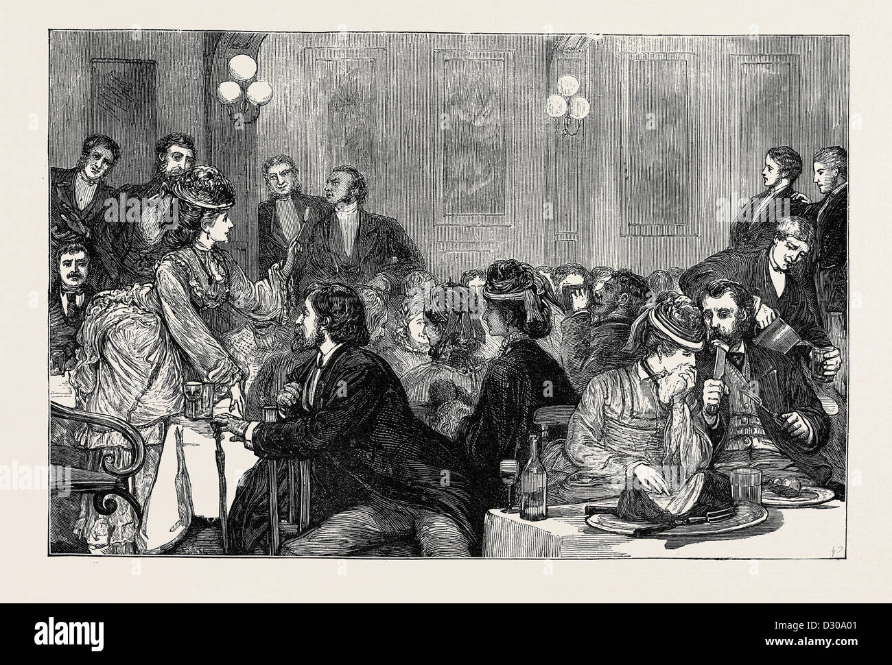 AN AUSTRALIAN-MEAT SUPPER AT NEWCASTLE-ON-TYNE - Stock Image