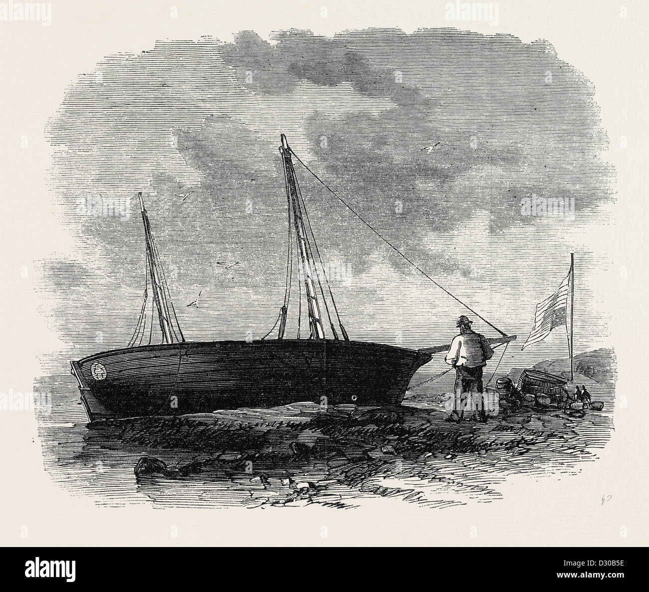 THE BOAT 'JOHN T. FORD' WHICH CROSSED THE ATLANTIC 1867 - Stock Image
