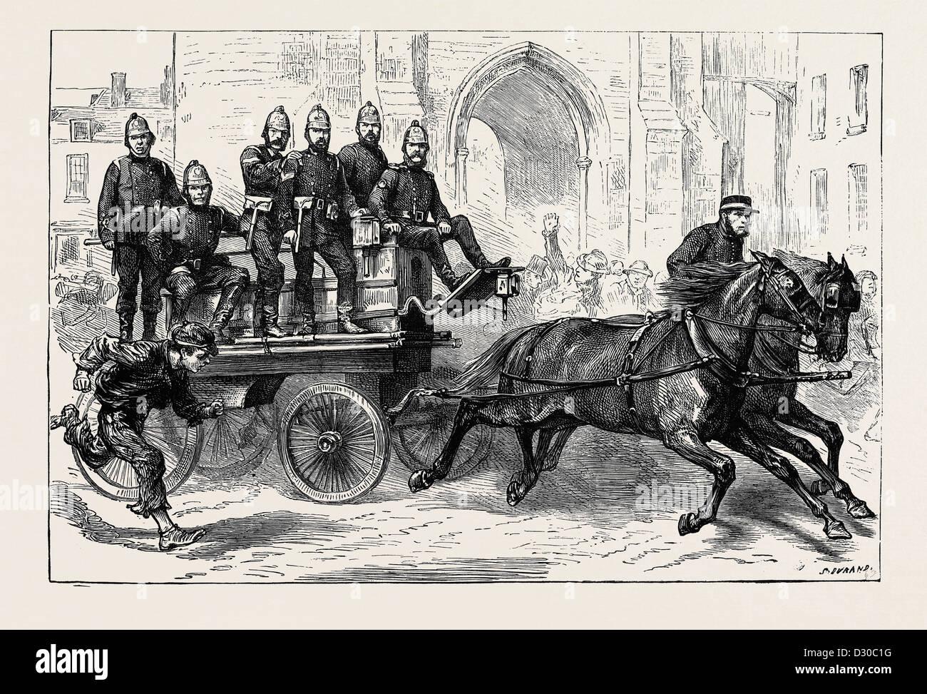 THE CANTERBURY VOLUNTEER FIRE BRIGADE - Stock Image