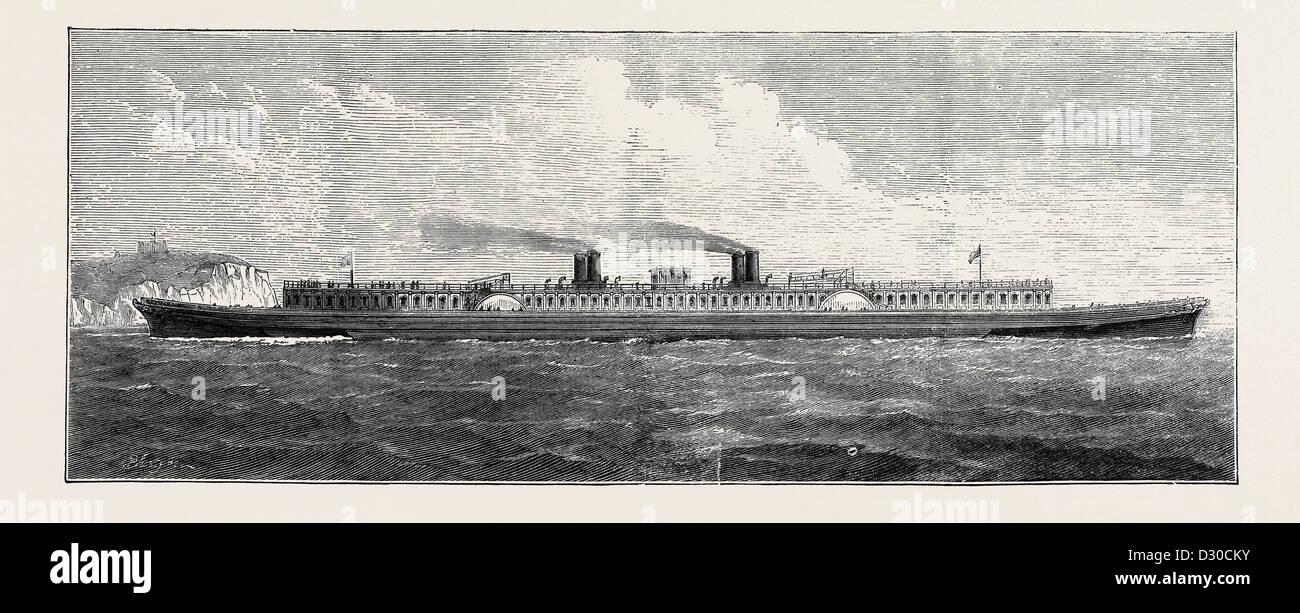 MR. S.J. MACKIE'S STEAMER: A ship 400 feet long by 80 feet broad - Stock Image
