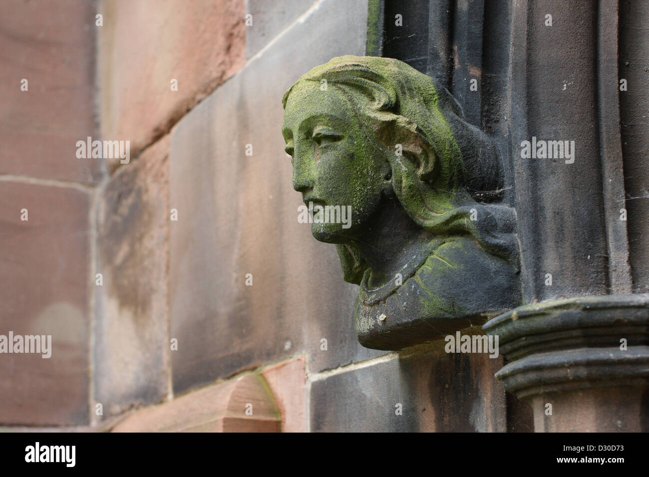 angelic carving, St Mary's church, Nantwich, Cheshire - Stock Image