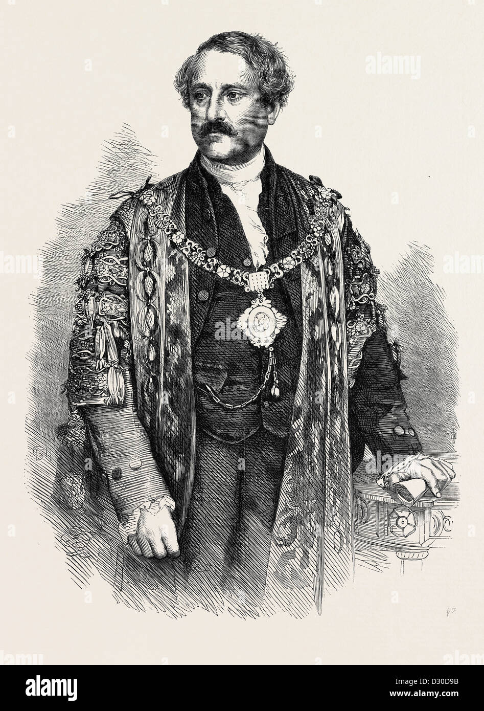 THE RIGHT HON. W.F. ALLEN THE NEW LORD MAYOR OF LONDON UK 1867 - Stock Image