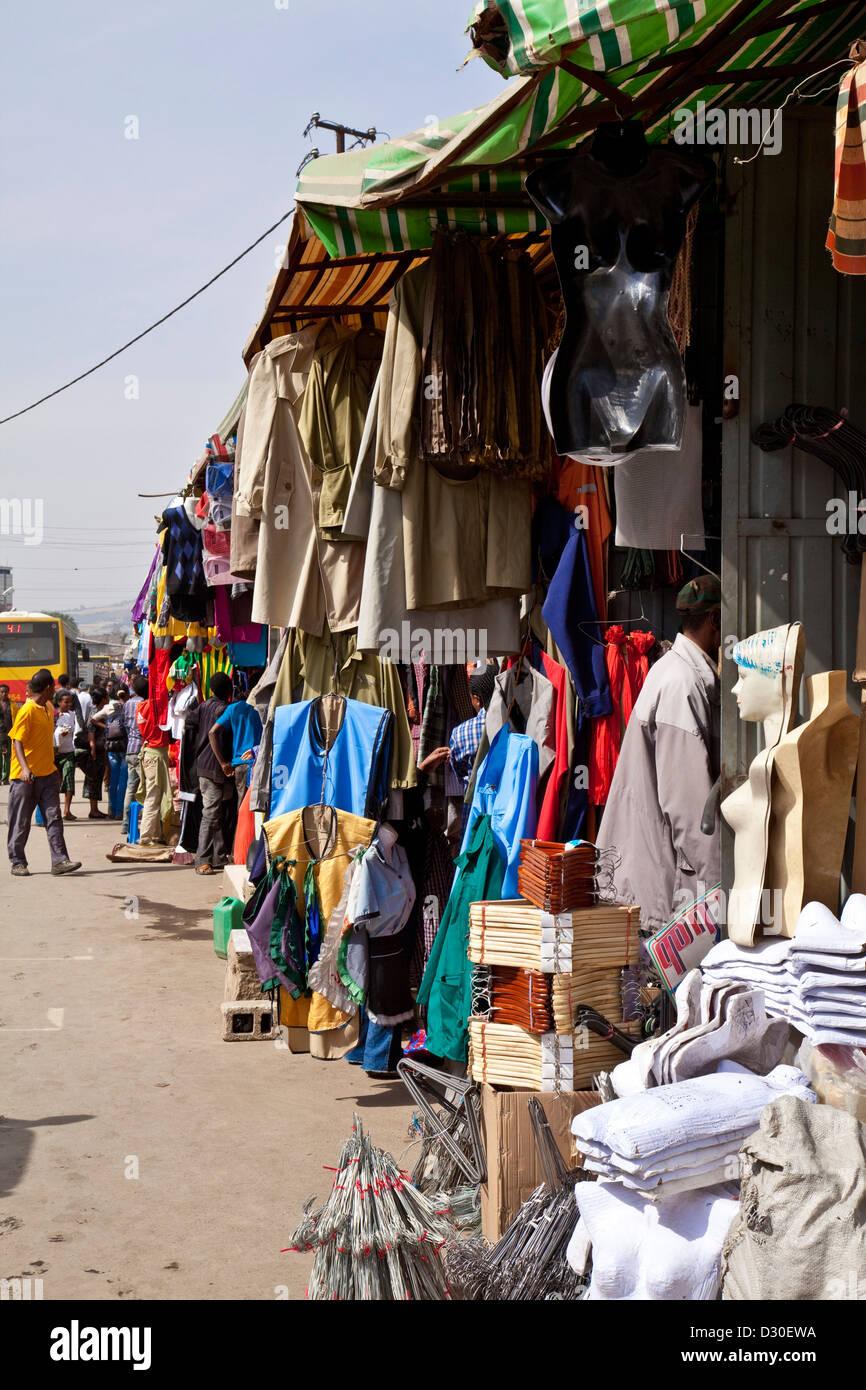 Mercato (The largest market in Africa) Addis Ababa, Ethiopia - Stock Image