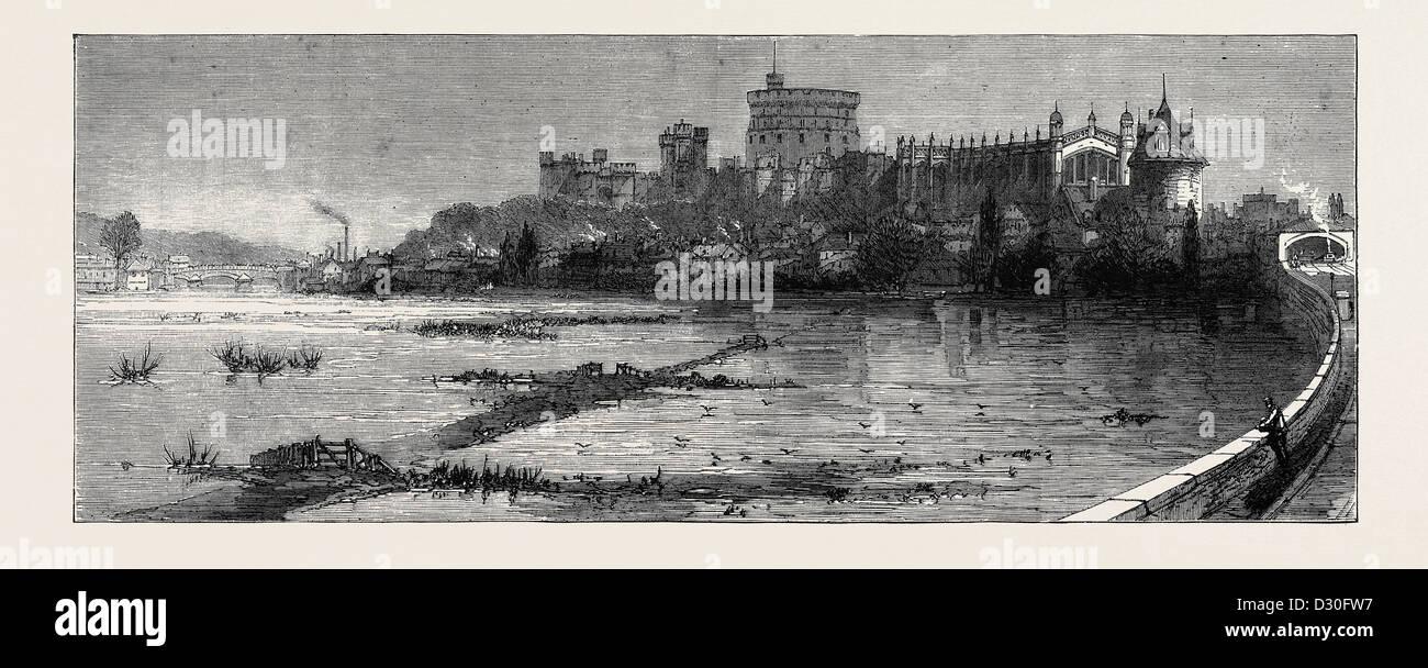 THE FLOODS: SCENE AT WINDSOR - Stock Image