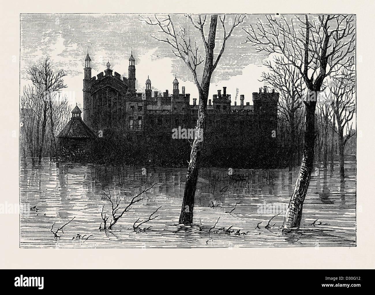 THE FLOODS: SCENE AT ETON - Stock Image