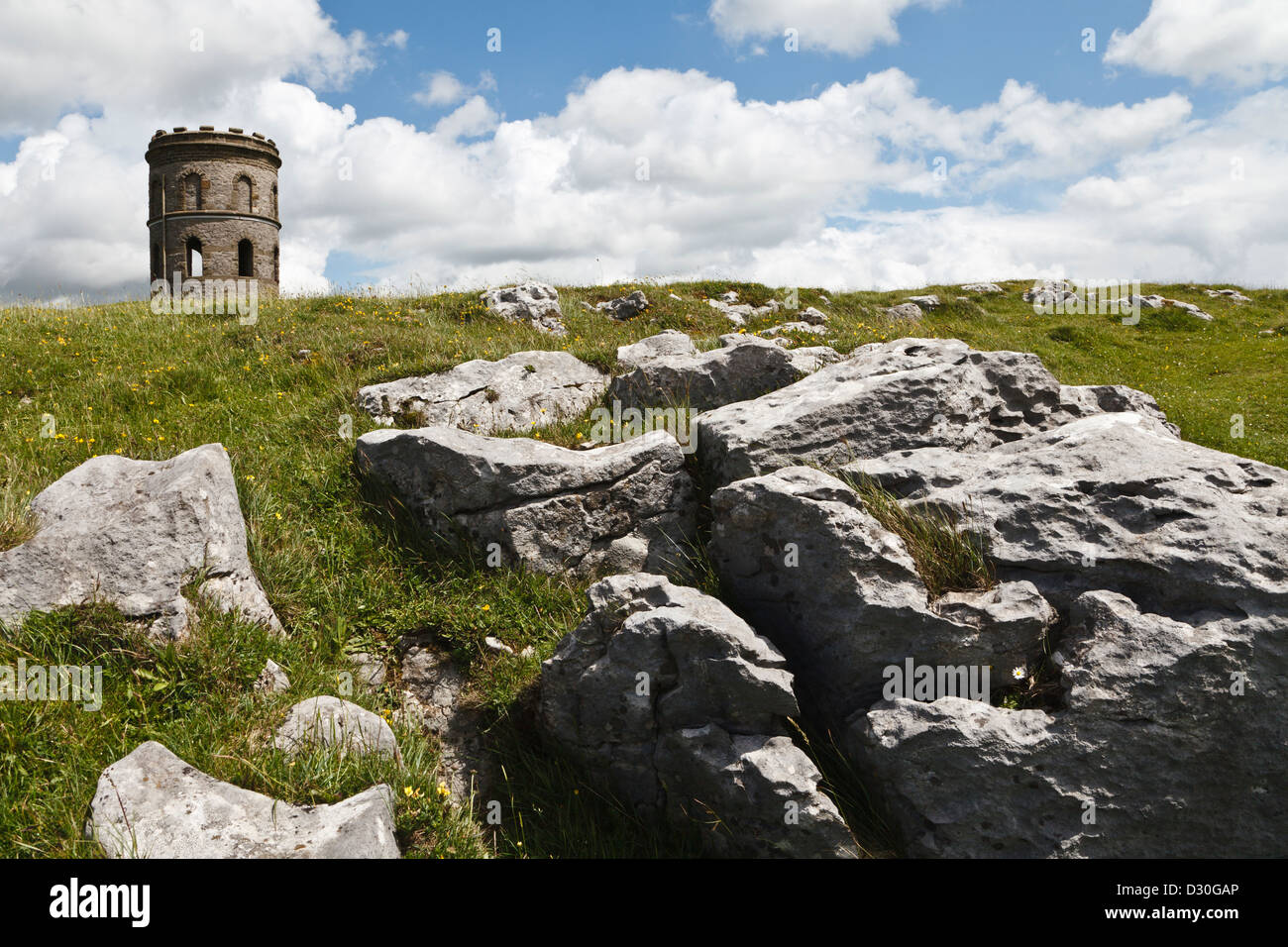 Solomon's Temple, Grin Low, Buxton, Peak District, Derbyshire, England - Stock Image
