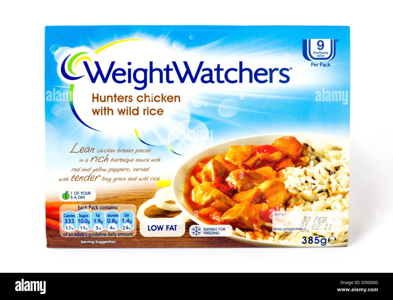 Weight Watchers ready meal - Stock Image