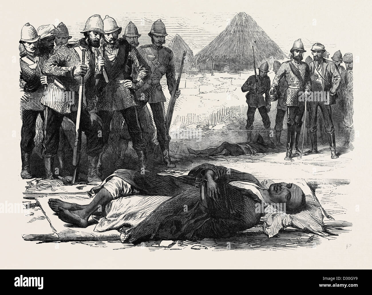 THE WAR IN ABYSSINIA: KING THEODORE AS HE LAY DEAD AT MAGDALA APRIL 13 1868 - Stock Image