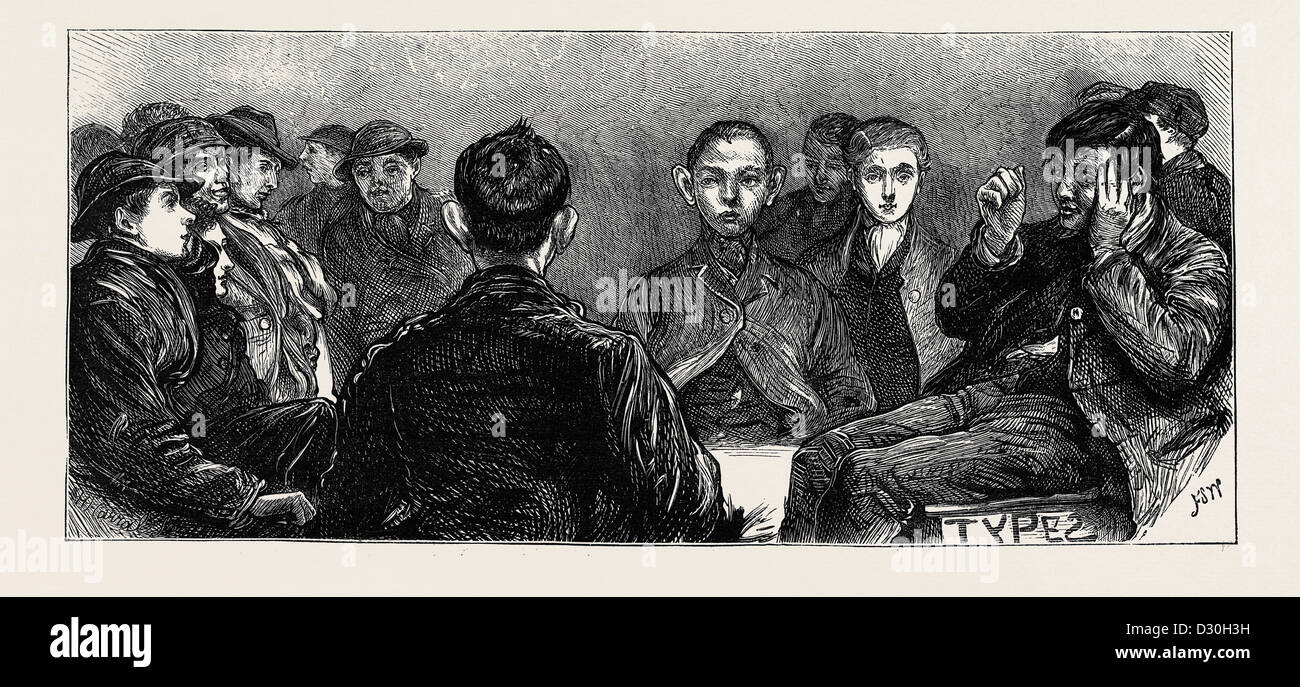 HOME FOR NEWS-BOYS IN THE METROPOLIS: SPECIMENS OF THE INMATES - Stock Image