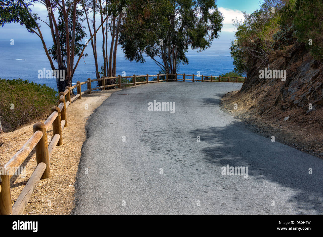 Road around Catalina Island, California - Stock Image