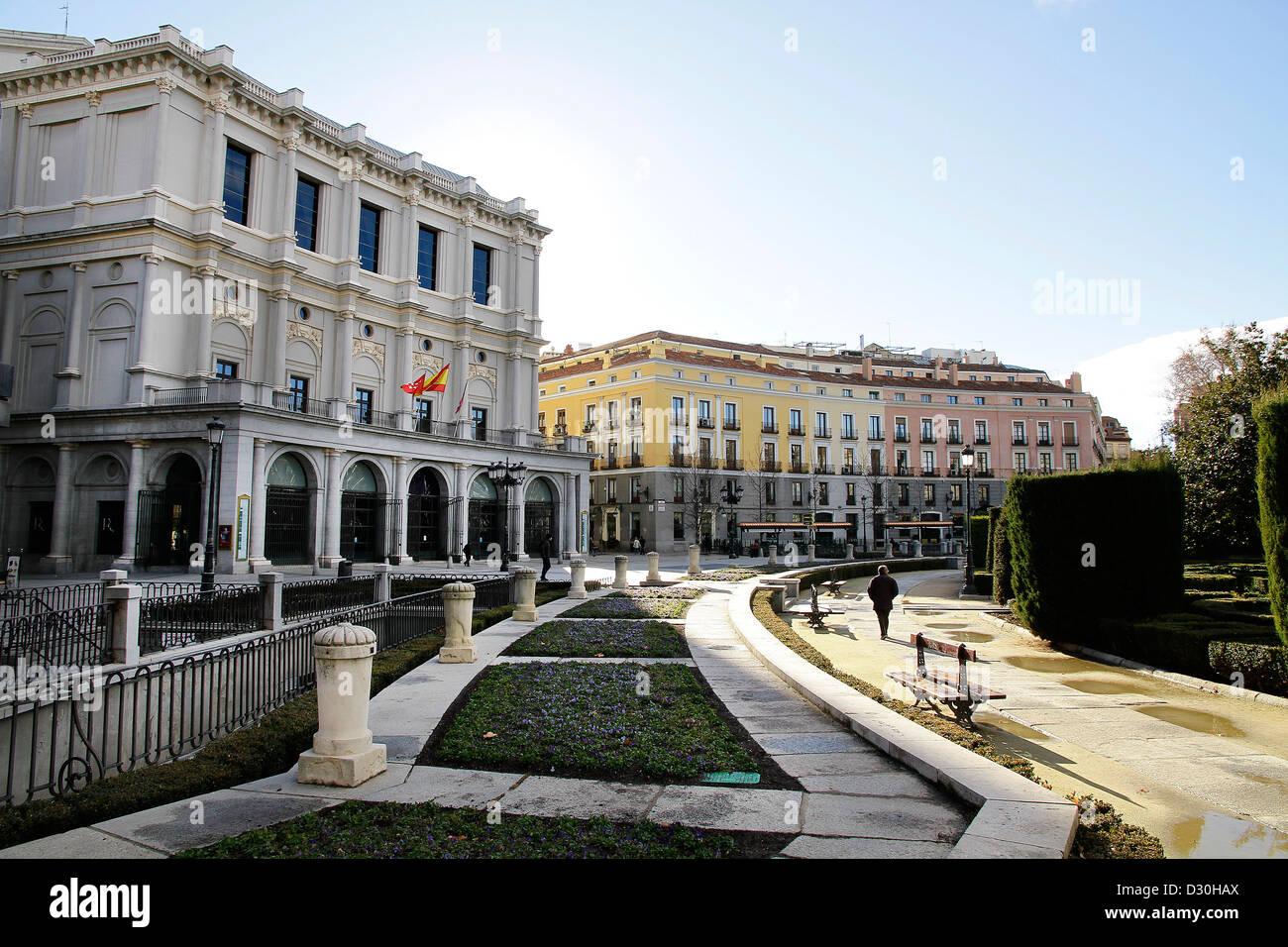 The Plaza de oriente in madrid Spain - Stock Image