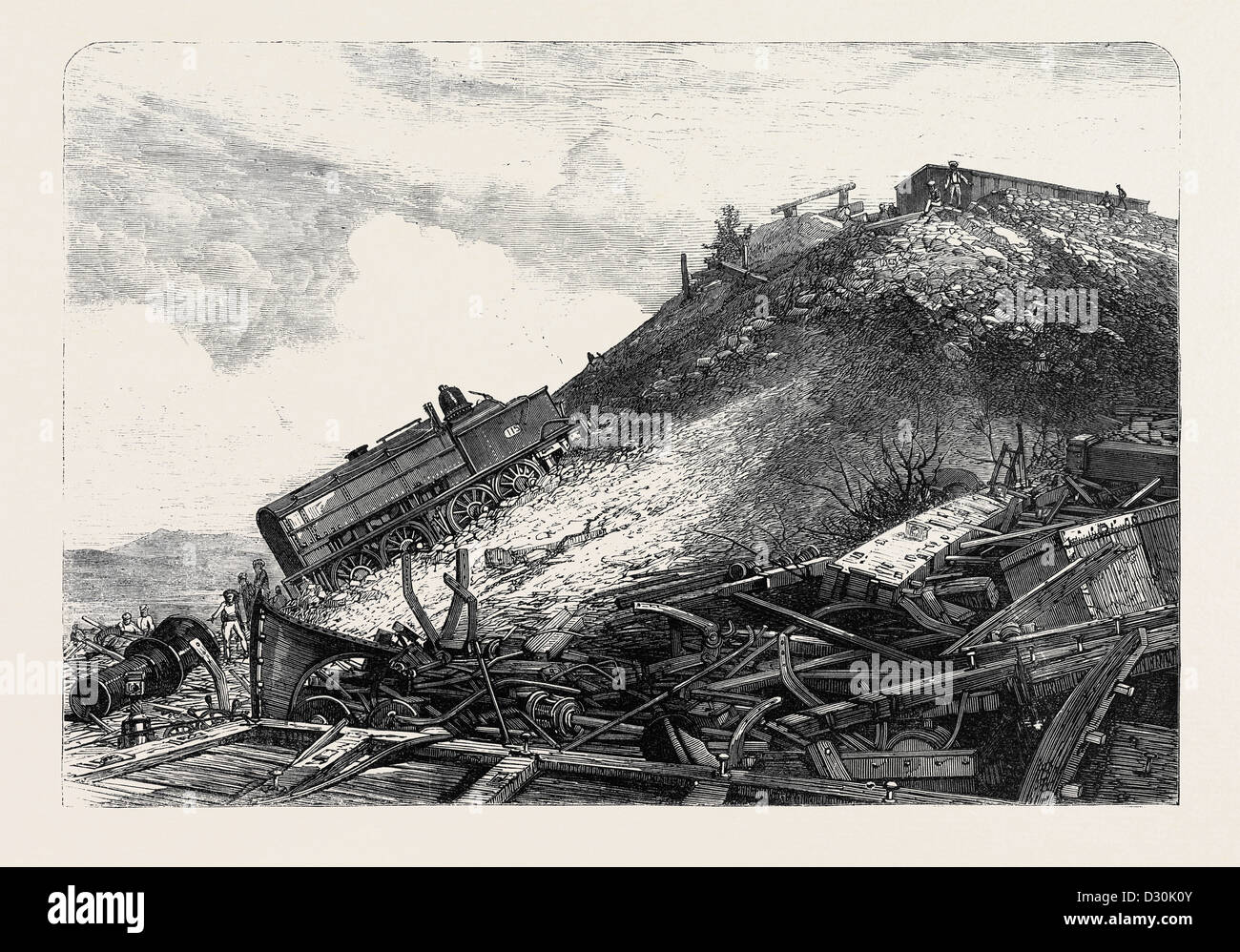 THE DISASTER ON THE GREAT INDIAN PENINSULA RAILWAY: SCENE OF THE ACCIDENT 1869 - Stock Image