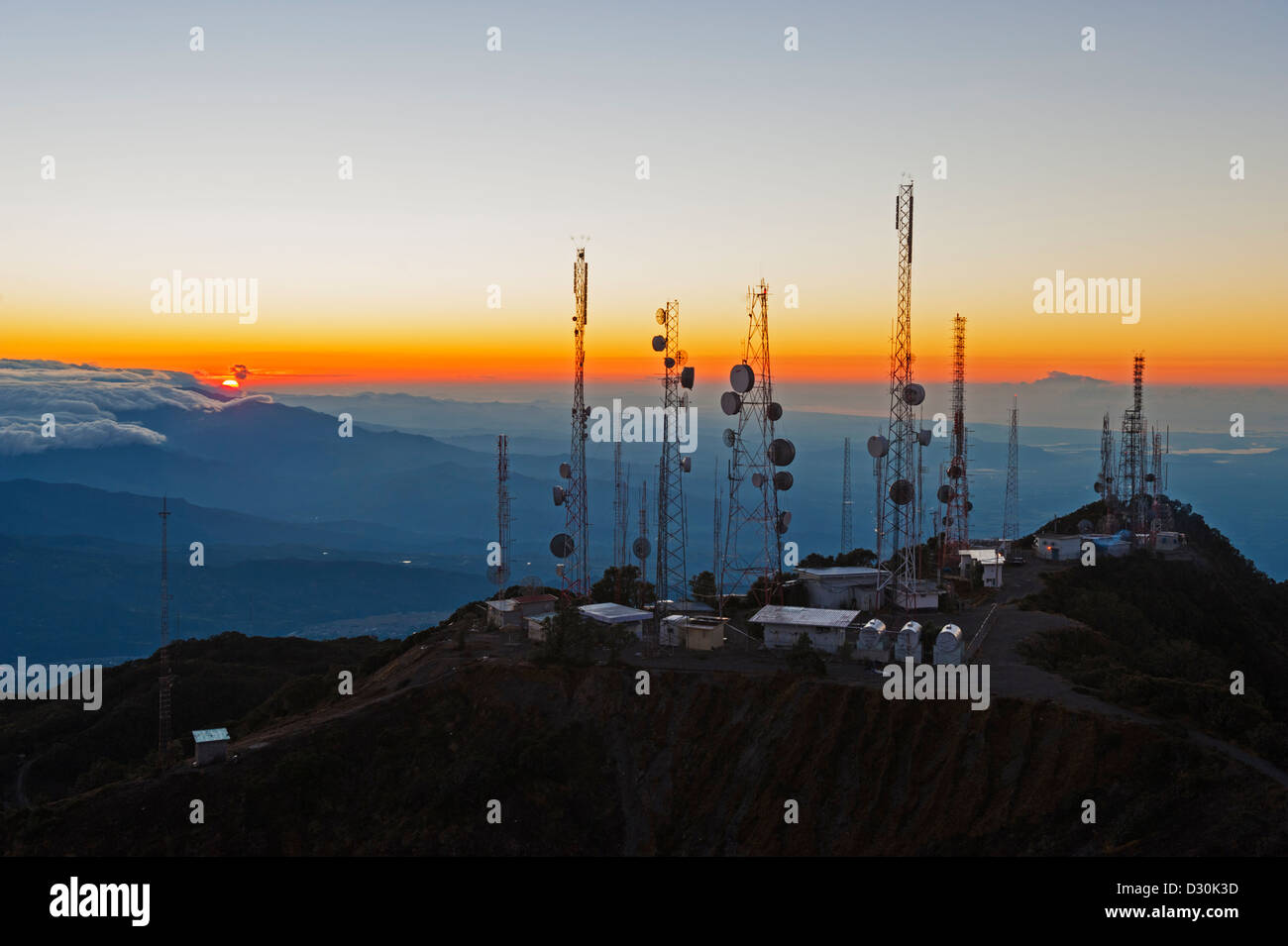 view from summit of Volcan Baru, panama Stock Photo
