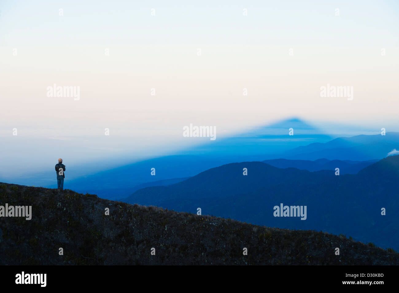 view from the summit of Volcan Baru, panama - Stock Image