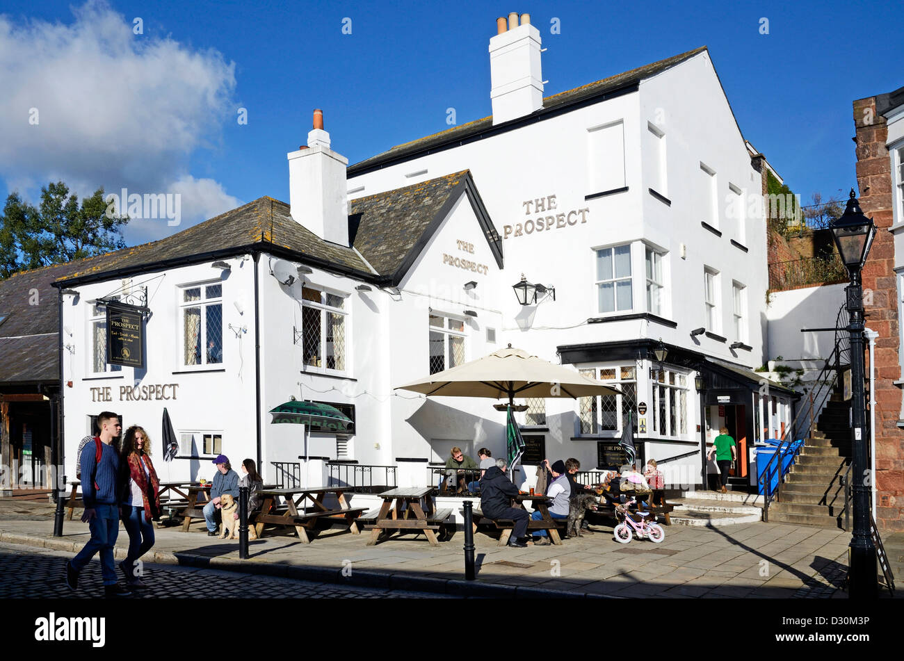 The Prospect Pub on the quay at Exeter in Devon, UK - Stock Image