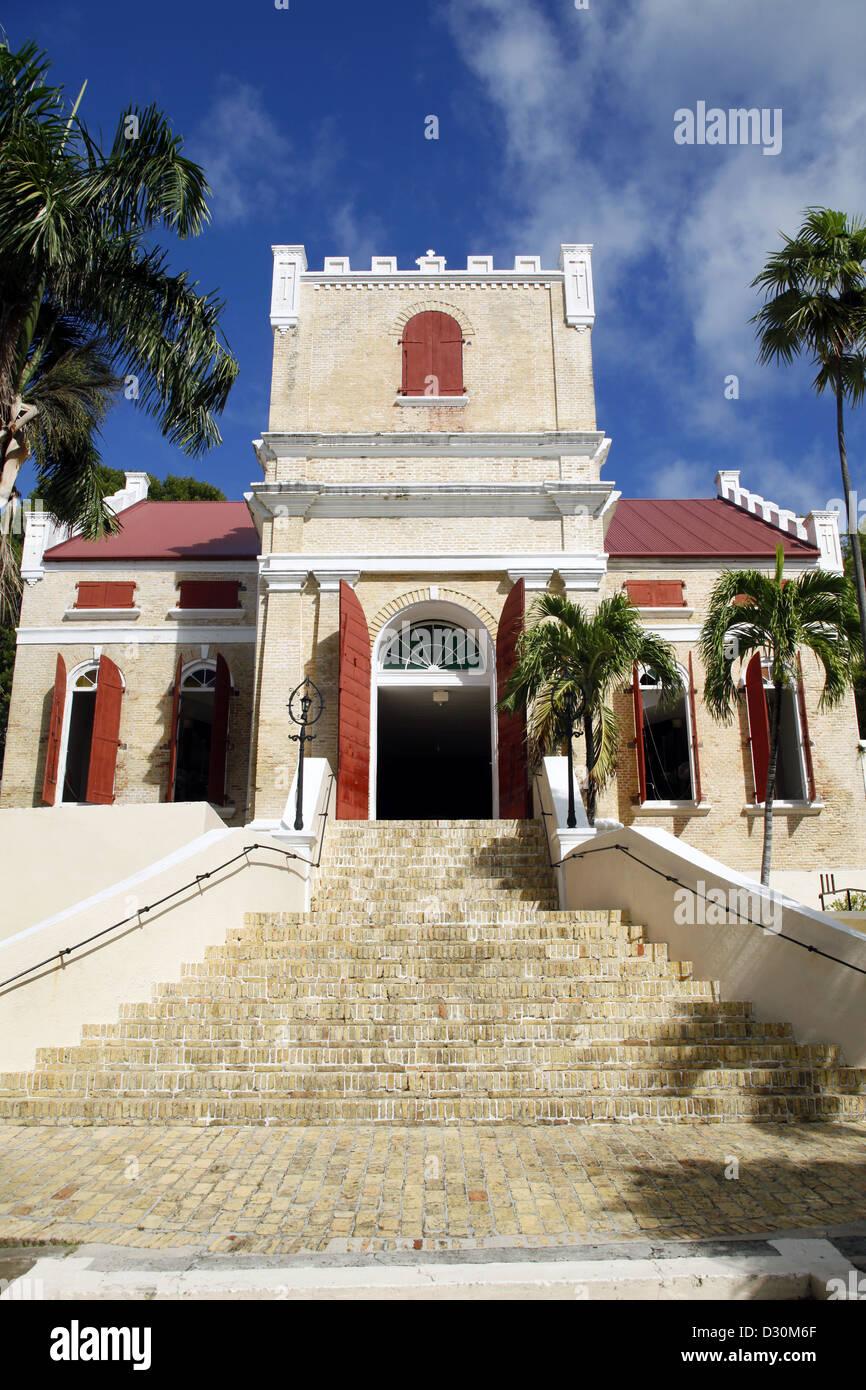 Frederick Evangelical Lutheran Church, Charlotte Amalie, St. Thomas, US Virgin Islands, Caribbean - Stock Image