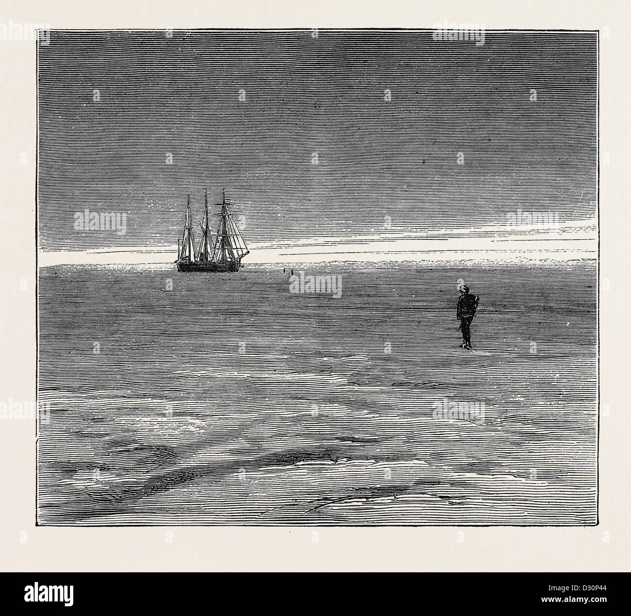THE AUSTRIAN POLAR EXPEDITION: THE 'TEGETHOFF' ENCLOSED IN THE ICE - Stock Image