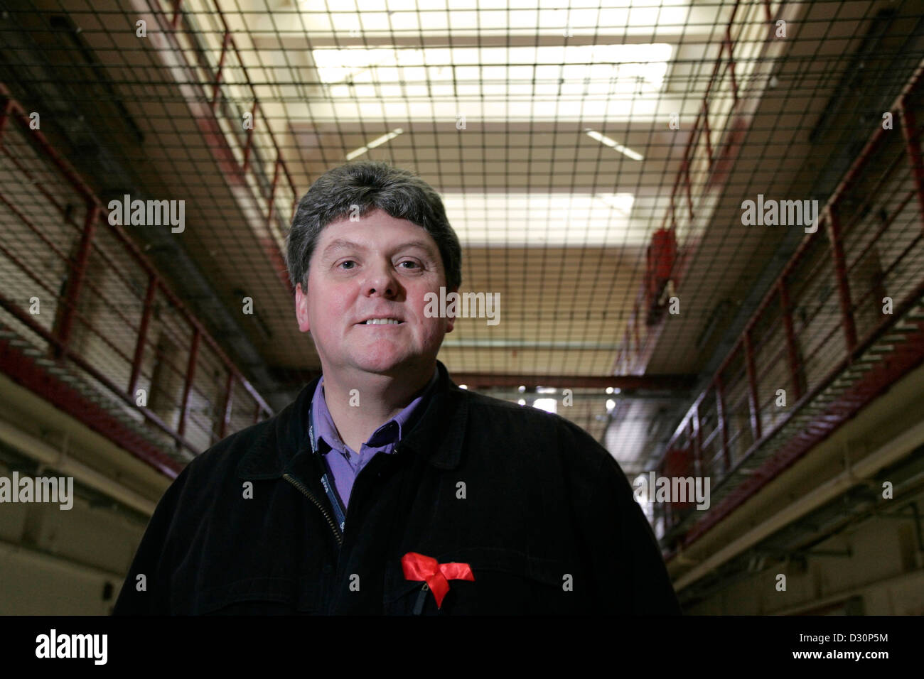 Rev. Donald Scott Chaplain at Polmont Young Offenders Institution 18/01/06 - Stock Image