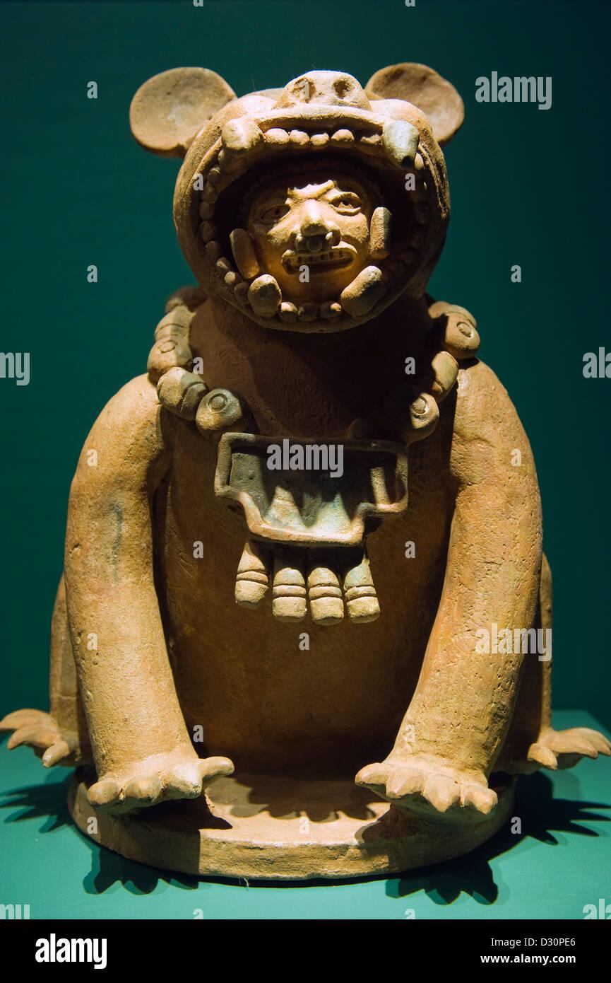 artifact at Museo Nacional de Antropologia David J Guzman, Anthropology museum, San Salvador (capital city), El - Stock Image