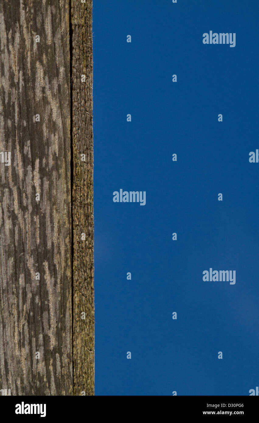 fence against clear blue sky - Stock Image