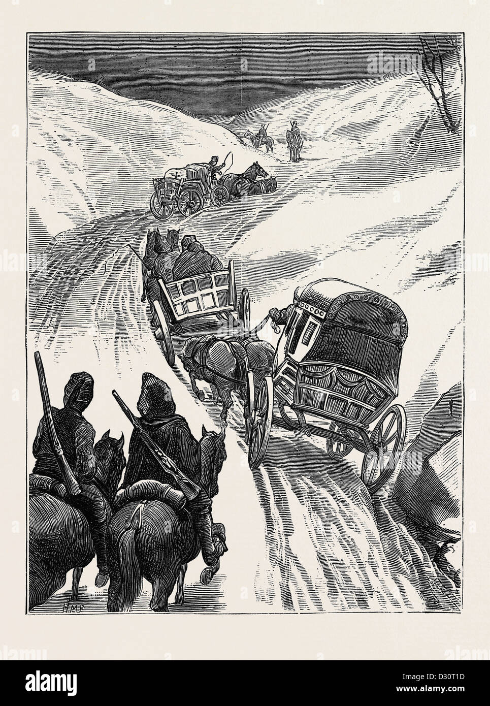 THE WAR IN THE EAST: THE RED CROSS SOCIETY: 'HOMEWARD BOUND' - Stock Image