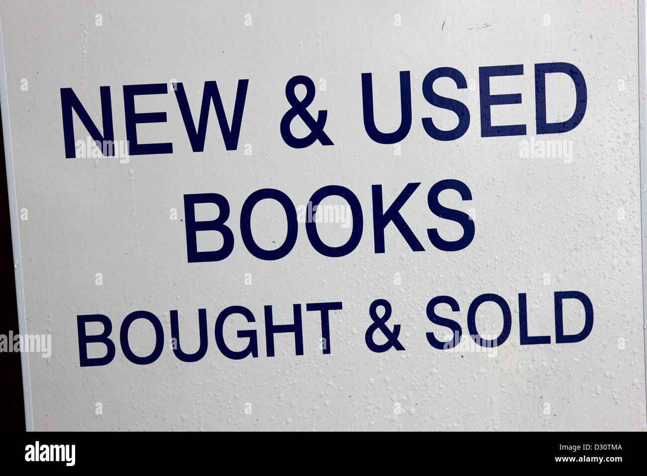 wet sign new and used books bought and sold in Vancouver BC Canada Stock Photo