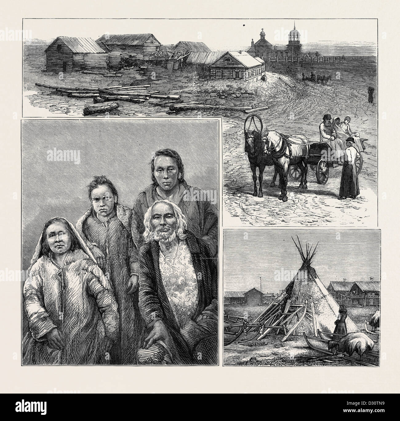 TO SIBERIA BY SEA, CAPTAIN WIGGINS' EXPEDITION - Stock Image