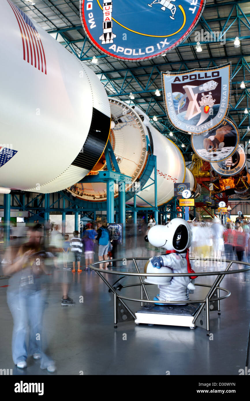 Saturn V Rocket, Kennedy Space Center, Florida - Stock Image